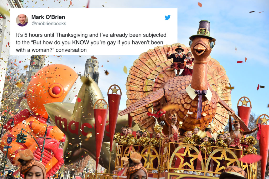 A giant Turkey float in the Thanksgiving parade