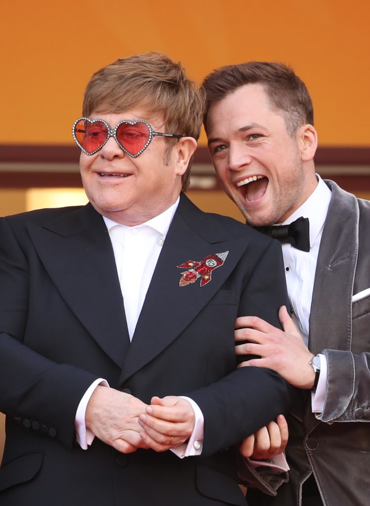 """Sir Elton John and Taron Egerton attend a screening of """"Rocketman"""" during the 72nd annual Cannes Film Festival on May 16, 2019 in Cannes, France. (Mike Marsland/WireImage)"""