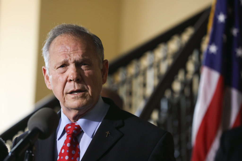 Roy Moore announces his plans to run for US Senate in 2020 on June 20, 2019 in Montgomery, Alabama.