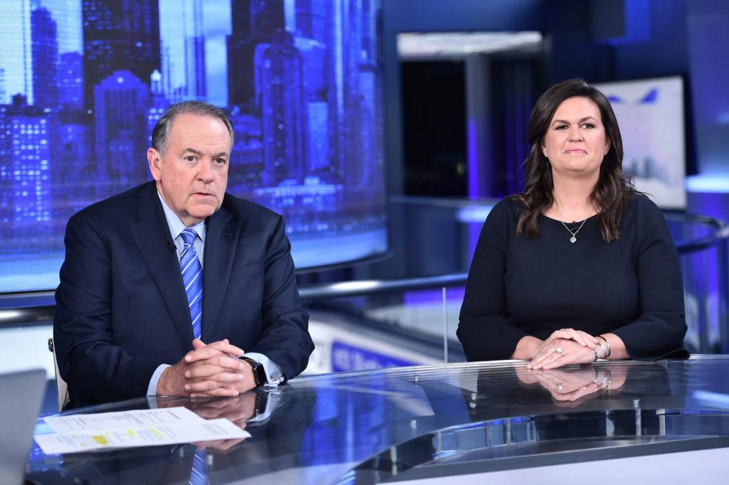 Fox News Contributors Gov. Mike Huckabee and his daughter Sarah Huckabee Sanders