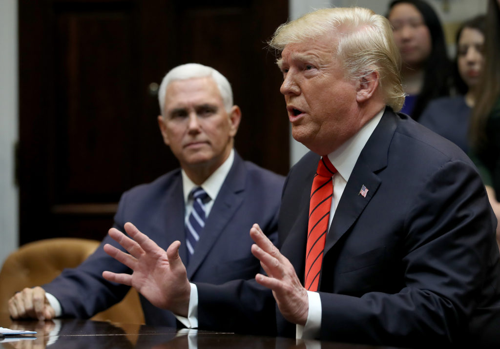 President Donald Trump with Vice President Mike Pence