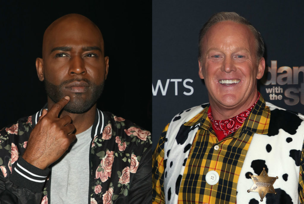 Karamo Brown and Sean Spicer