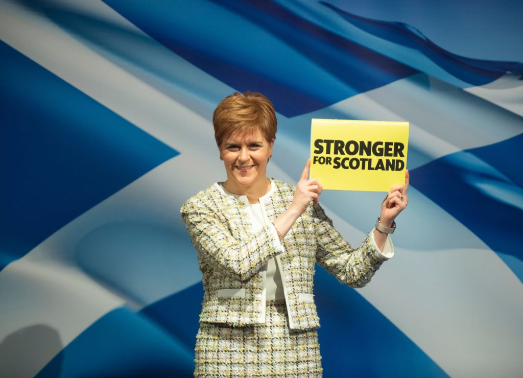 Scotland's First Minister Nicola Sturgeon launches the Scotland National Party