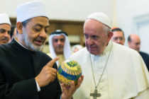 Pope Francis meets the Grand Imam of Al-Azhar Ahmed el-Tayeb