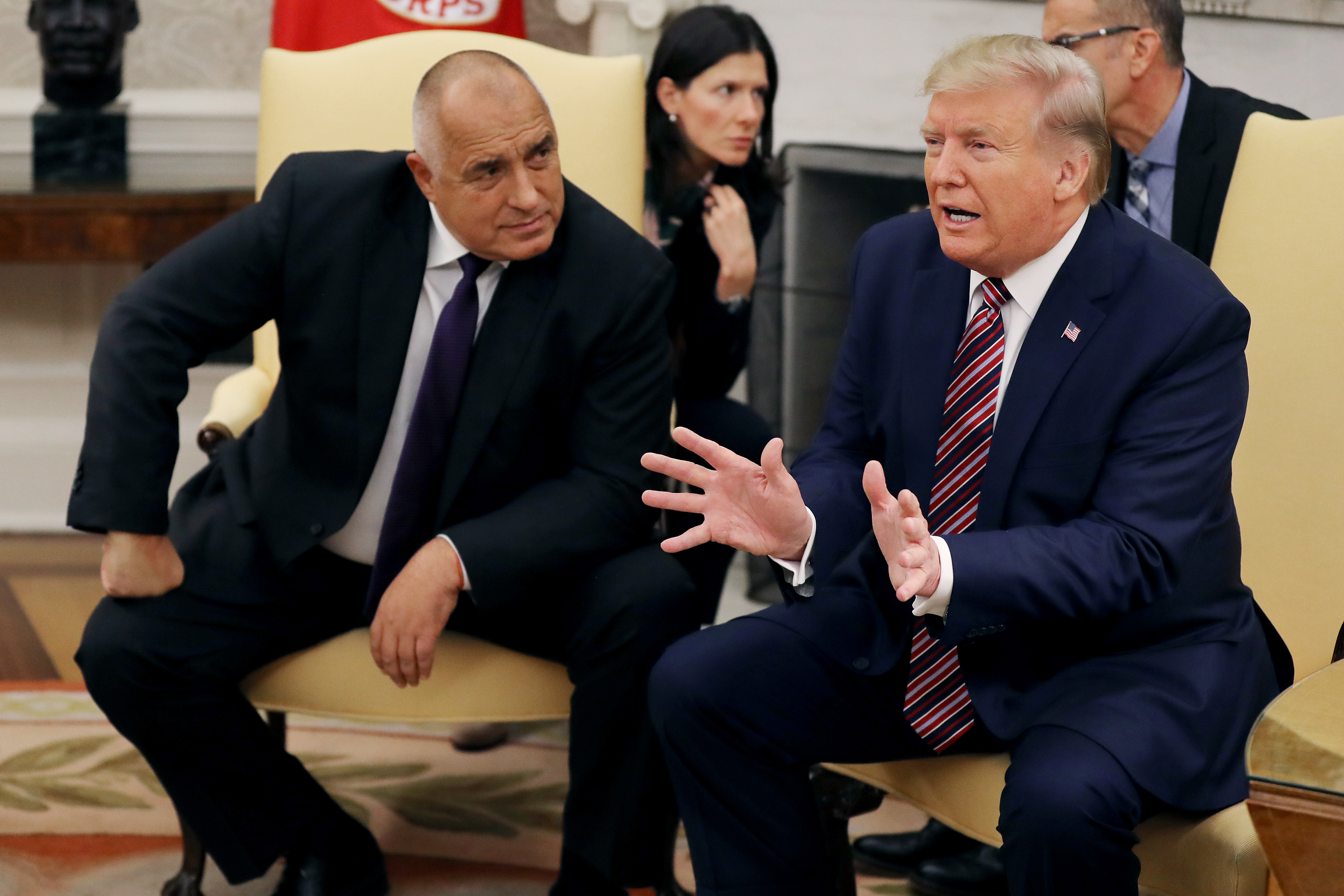 President Donald Trump had made the comments during a press conference with Bulgarian Prime Minister Boyko Borissov