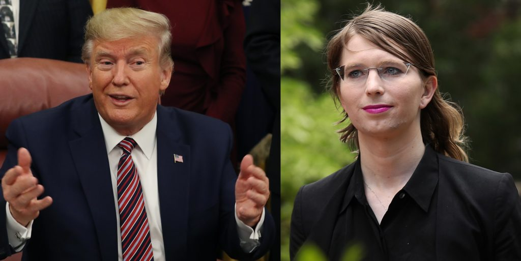 Chelsea Manning returned fire after a callous jibe from President Donald Trump
