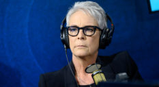 Jamie Lee Curtis visits the SiruiusXM studios at SiriusXM Hollywood Studio on November 25, 2019 in Los Angeles, California.