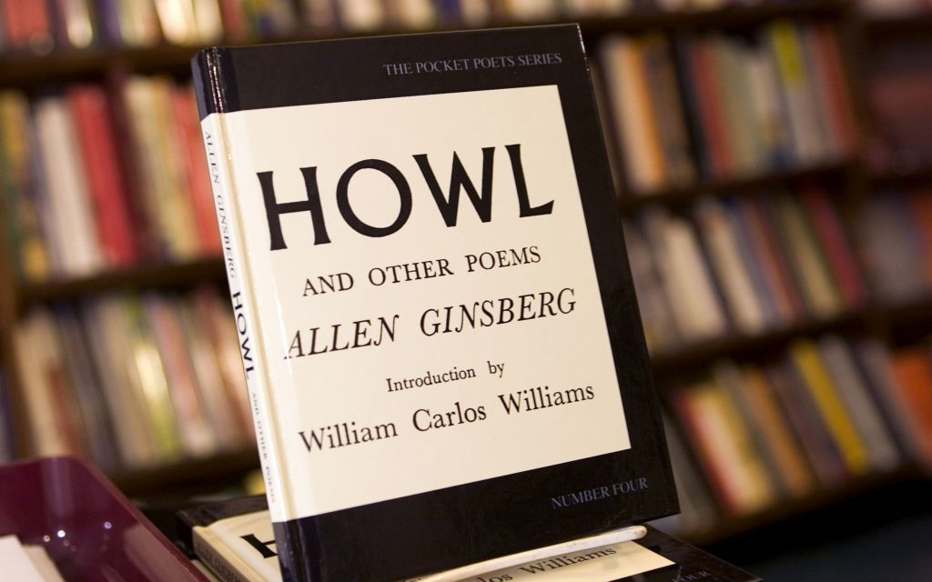 Copies of Allen Ginsberg's famous 'Howl' on display at City Lights Bookstore in San Francisco, Calif.