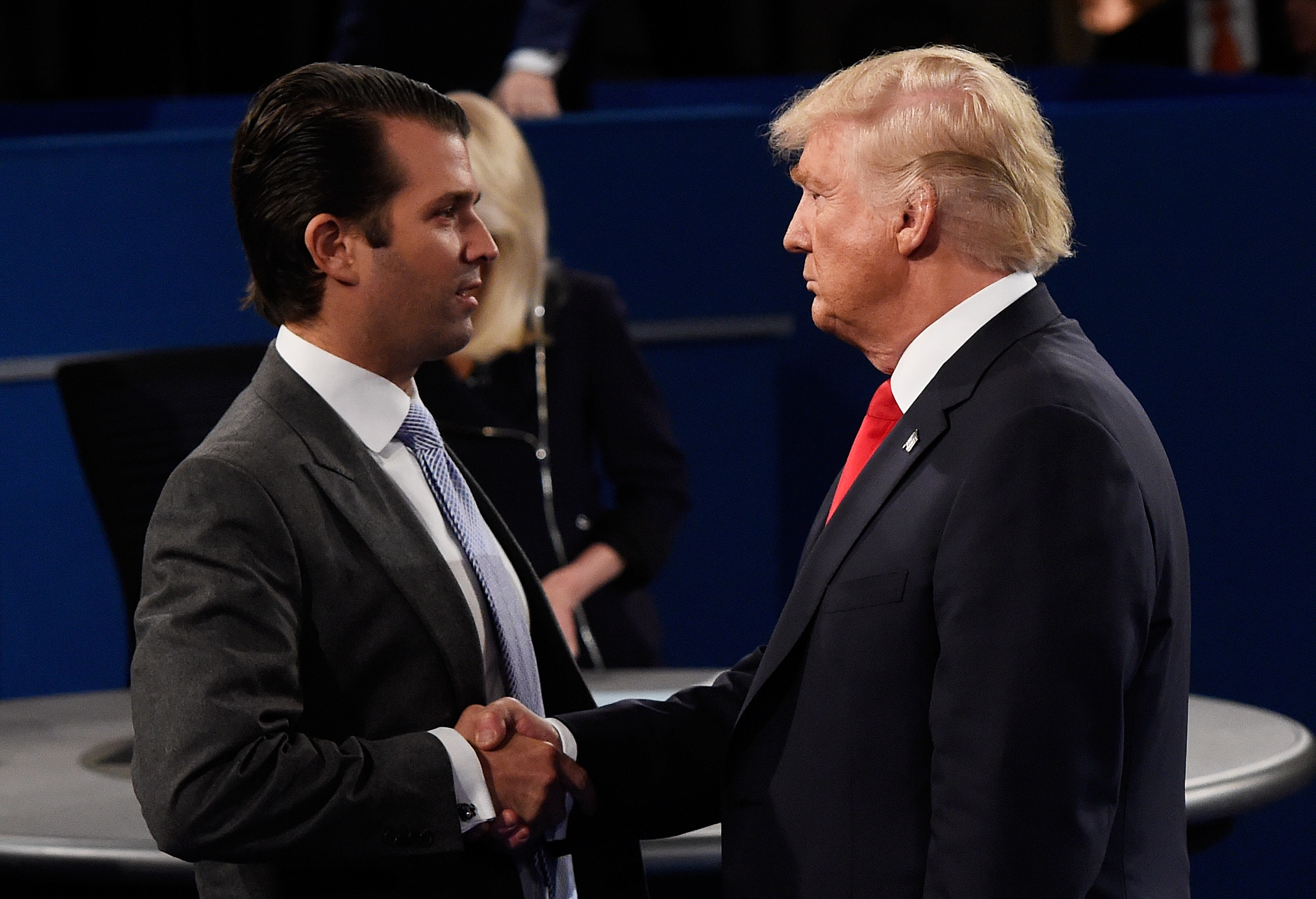 Donald Trump Jr with his father