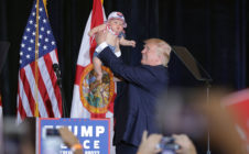 Trump with baby