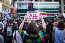 trans military ban protest