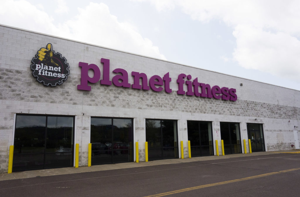 A view of Planet Fitness in the Columbia Mall on July 24, 2017 in Bloomsburg, Pennsylvania. (DON EMMERT/AFP via Getty Images)