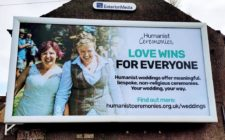 Northern Ireland billboard with same-sex couple