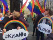 Queer couples kiss outside Irish parliament to demand better hate crime legislation