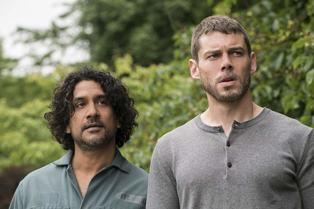 Naveen Andrews (L) and Brian Smith in Sense8 (IMDb)