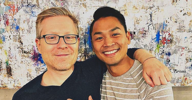Anthony Rapp (L) and fiancé Ken Ithiphol have announced their engagement and love just might be real. (Instagram)