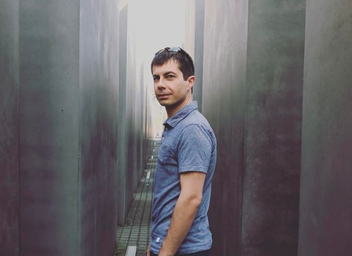 Pete Buttigieg's husband snapped a photo of the presidential hopeful at the Memorial to the Murdered Jews of Europe in Berlin, and some folks aren't happy. (Instagram)