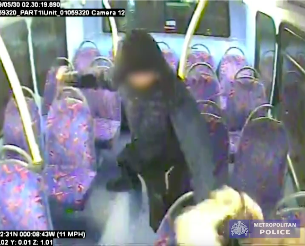 A teen pelted a queer woman on a night bus in London. (Metropolitan Police)