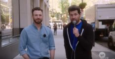 Billy Eichner asked a man on the street if he would sign a petition to remove Kevin Spacey from homosexuality and replace him with Chris Evans