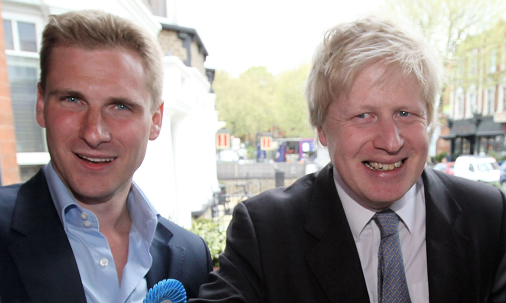 Chris Philp with Boris Johnson
