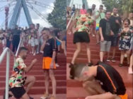 A gay couple proposal, and a viral video has re-ignited people's belief in love. (Screen captures via Twitter)