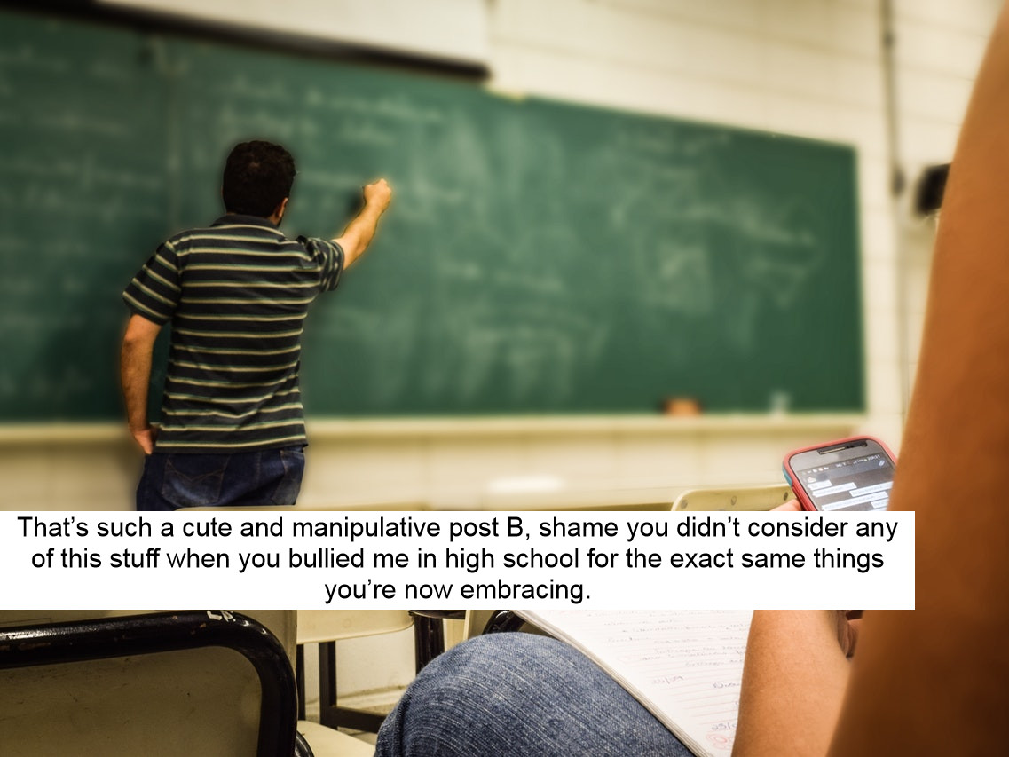 Gay man calls out his high school bully for coming out as bisexual and it's divided opinion
