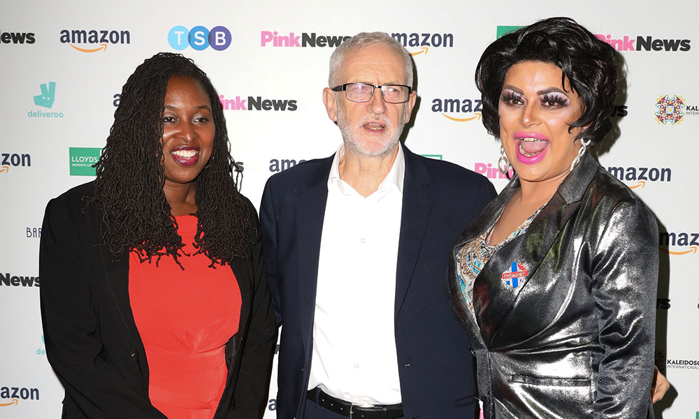 Dawn butler, Jeremy Corbyn and Baga Chipz