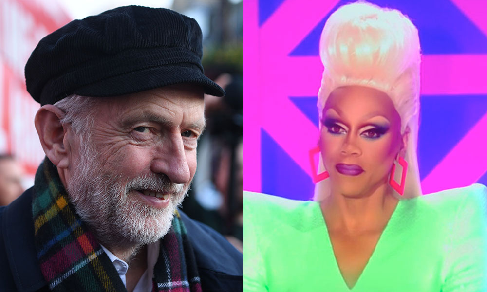 Jeremy Corbyn and RuPaul
