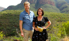 Julia Morris and Chris Brown in the I'm A Celebrity Australia jungle