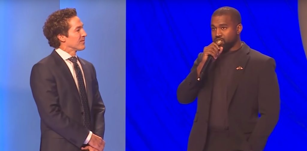 Kanye West appeared alongside the pastor at Lakewood Church