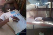 A trans refugee in the Kakuma Refugee Camp was brutally battered by a group of 'homophobic' persons' today. (Supplied)