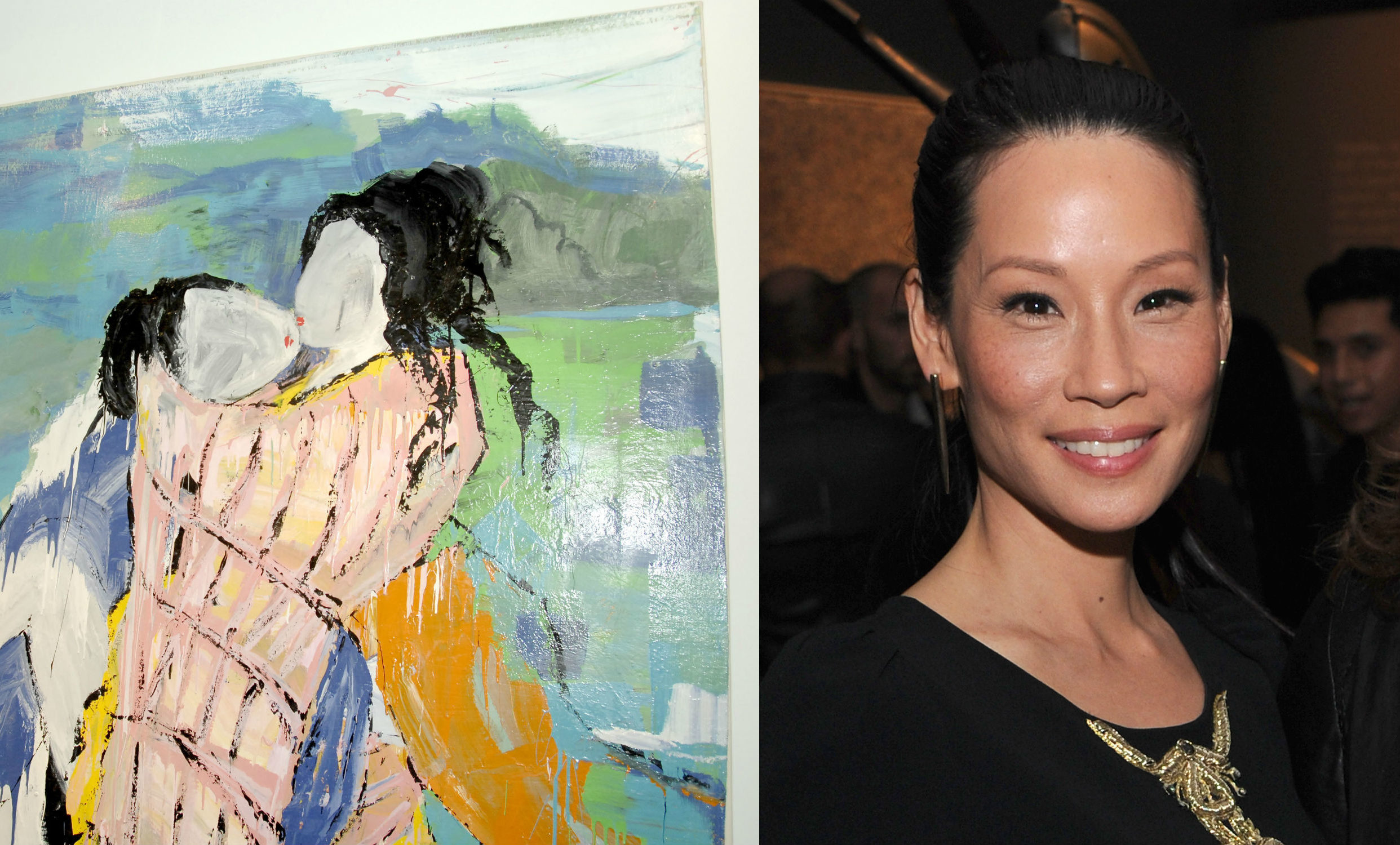 Lucy Liu paints erotic lesbian art and it's literally everything