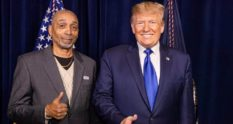 Clarence Mason Weaver with Donald Trump