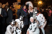 The mayor of Washington DC posing with a drag queen and her pups for Halloween is a huge, huge mood