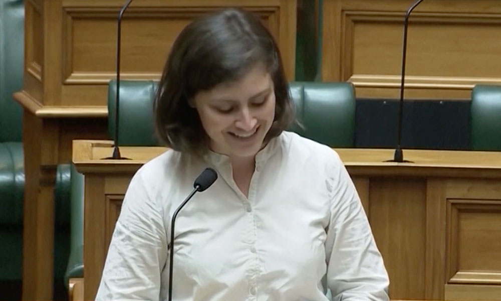 OK boomer: MP Chloe Swarbrick shuts down heckler with viral phrase