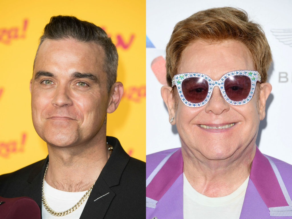 Robbie Williams and Elton John.