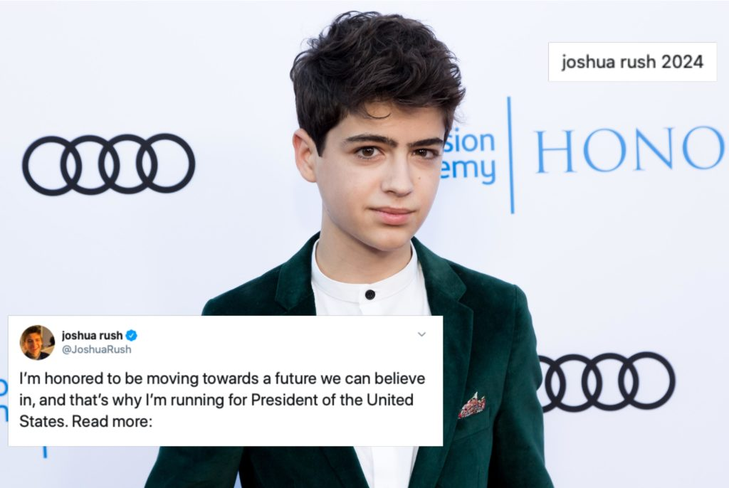 Disney Channel star Joshua Rush jokingly announced his decision to run for US president. (Greg Doherty/Getty Images)