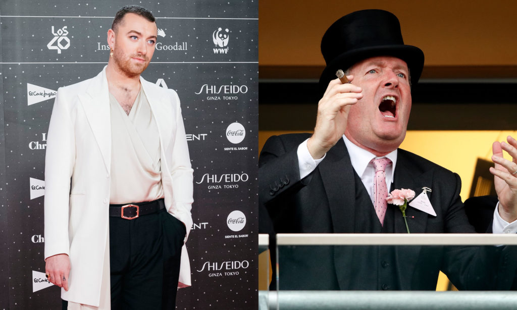 Sam Smith and Piers Morgan