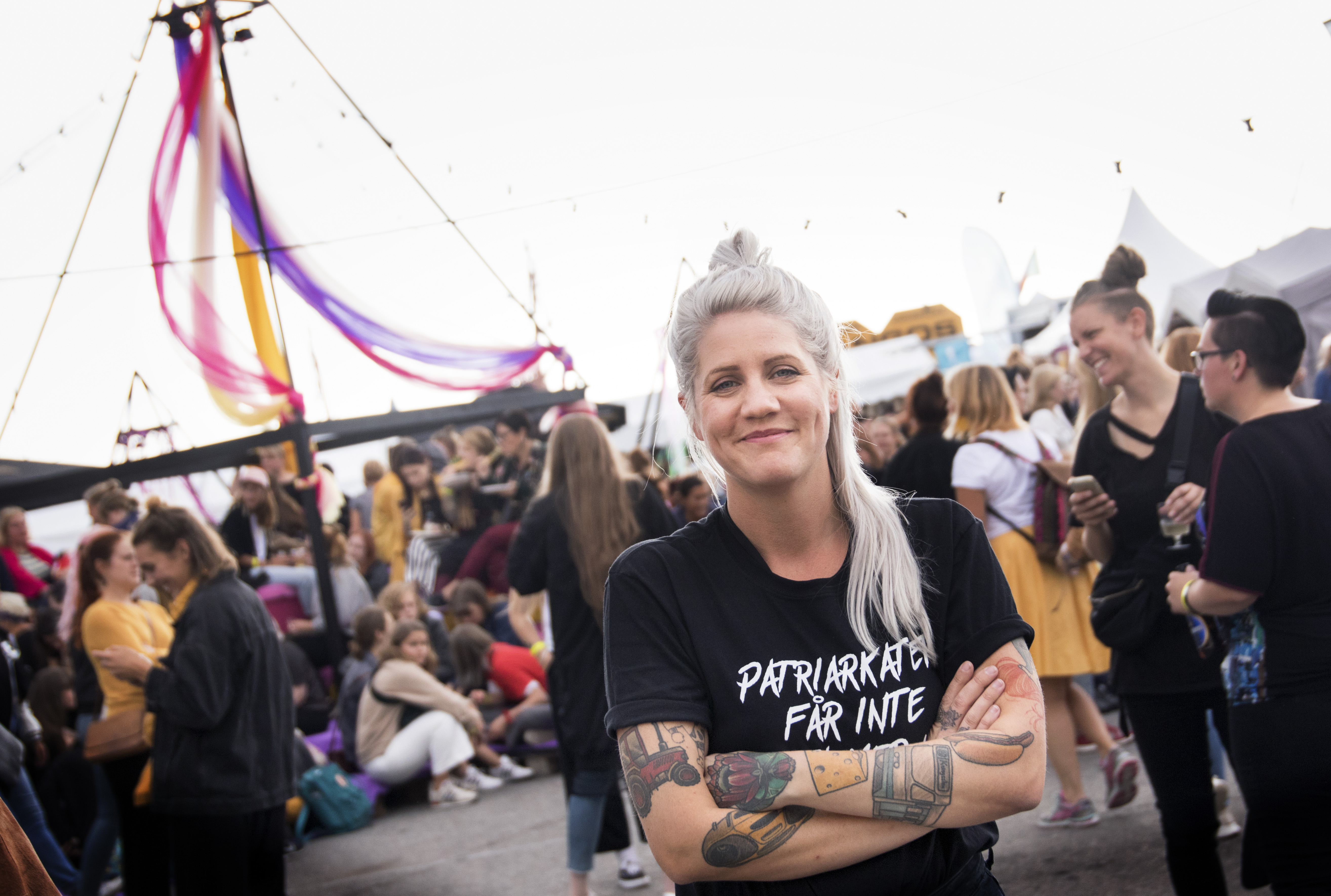 Swedish comedian and TV host Emma Knyckare, founder of Statement Festival.