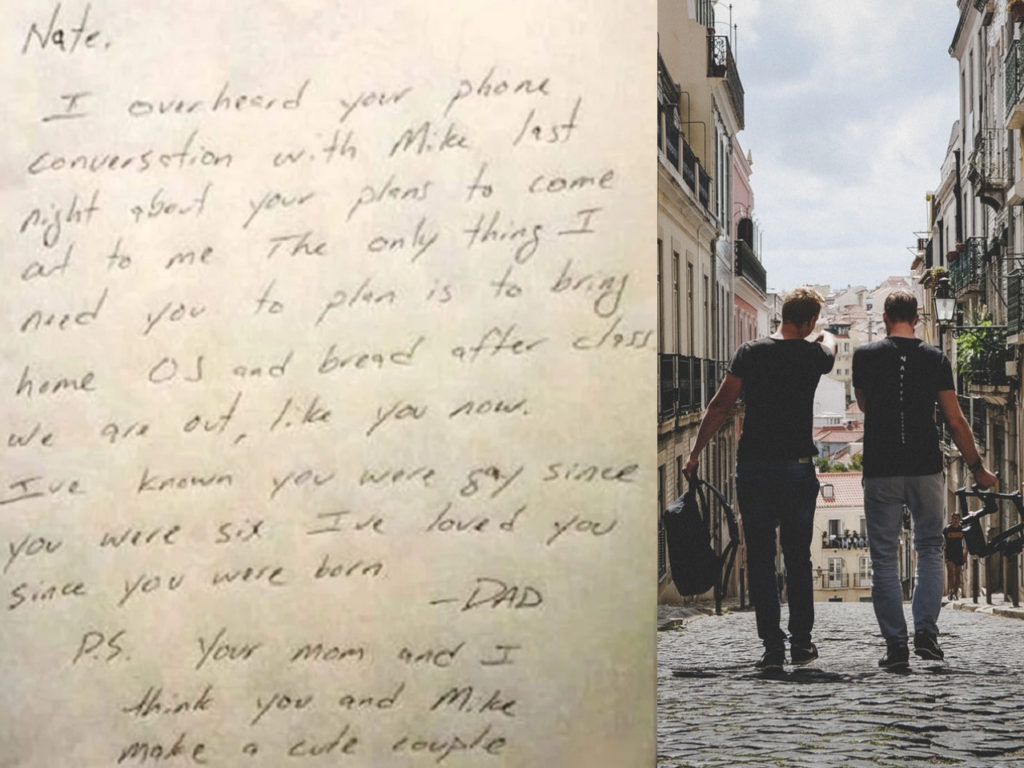 Dad writes son heartwarming letter after he overhears that he is thinking of coming out