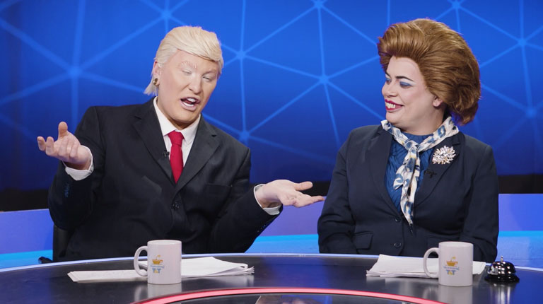 The Vivienne as Donald Trump and Baga Chipz as Margaret Thatcher