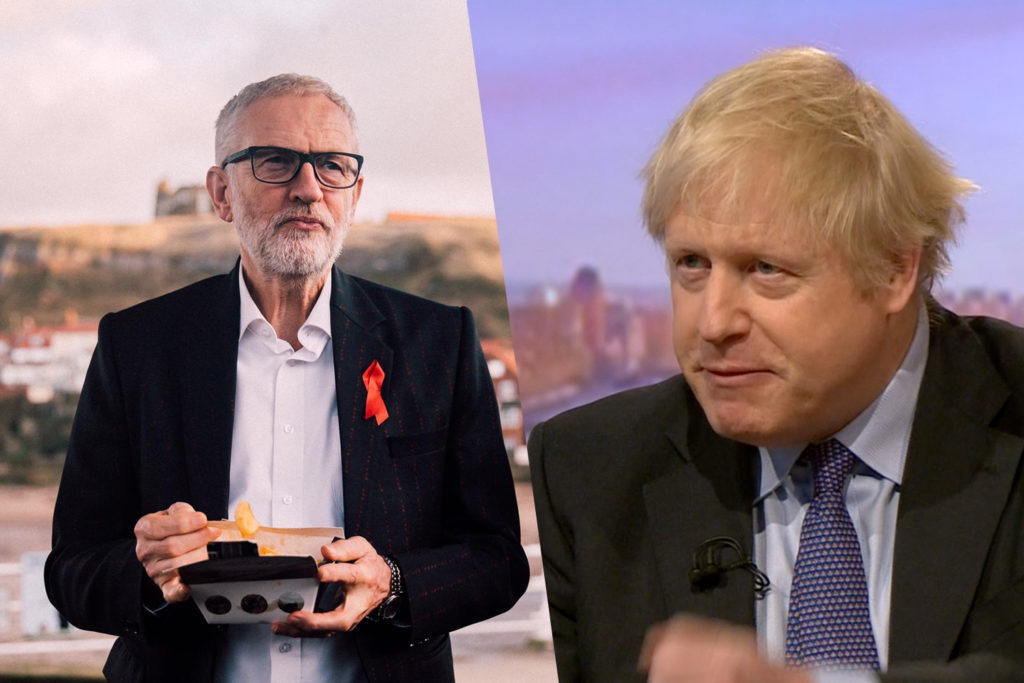 Jeremy Corbyn and Boris Johnson: Two images show difference in leaders