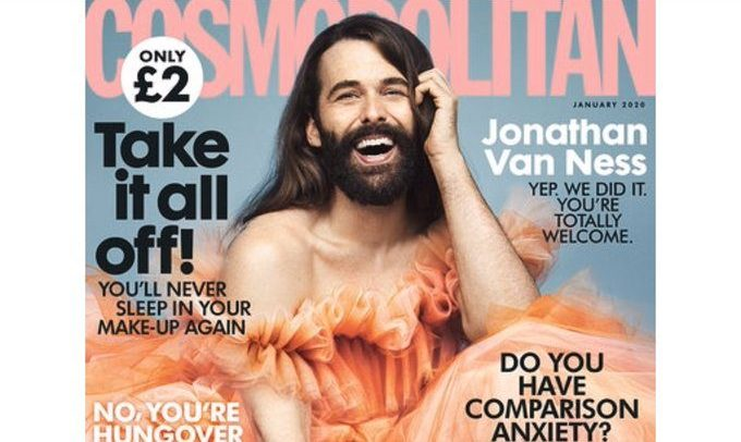 Jonathan Van Ness makes history as Cosmo's 'first non-female cover star'