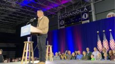 Kevin Costner turned up at a Pete Buttigieg rally