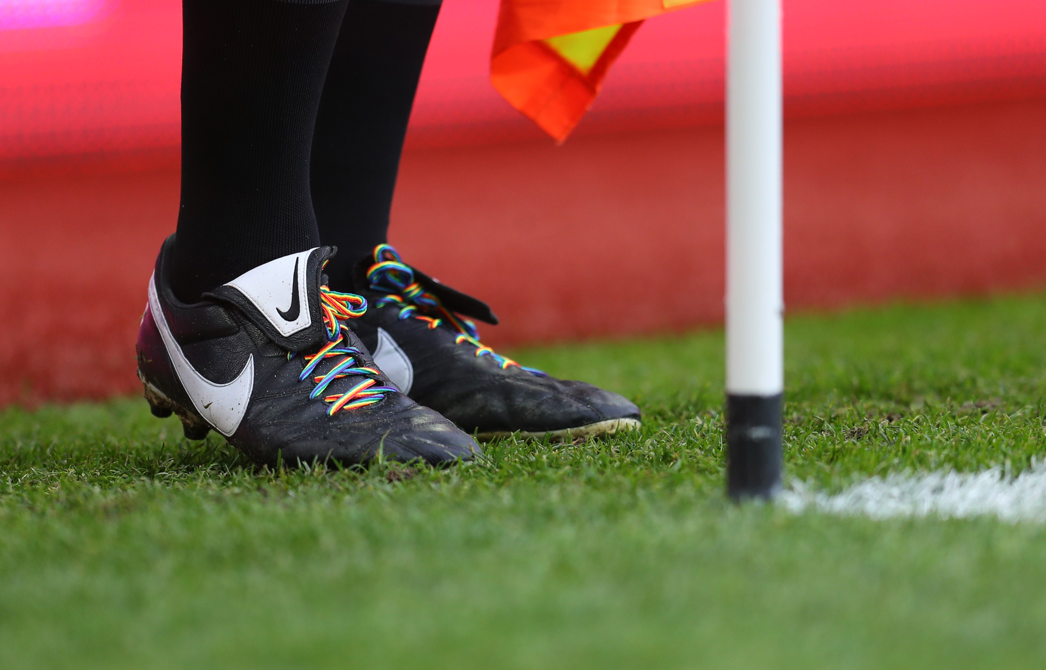 StonewallUK Rainbow Laces LGBT sports football rugby official new Gay Pride