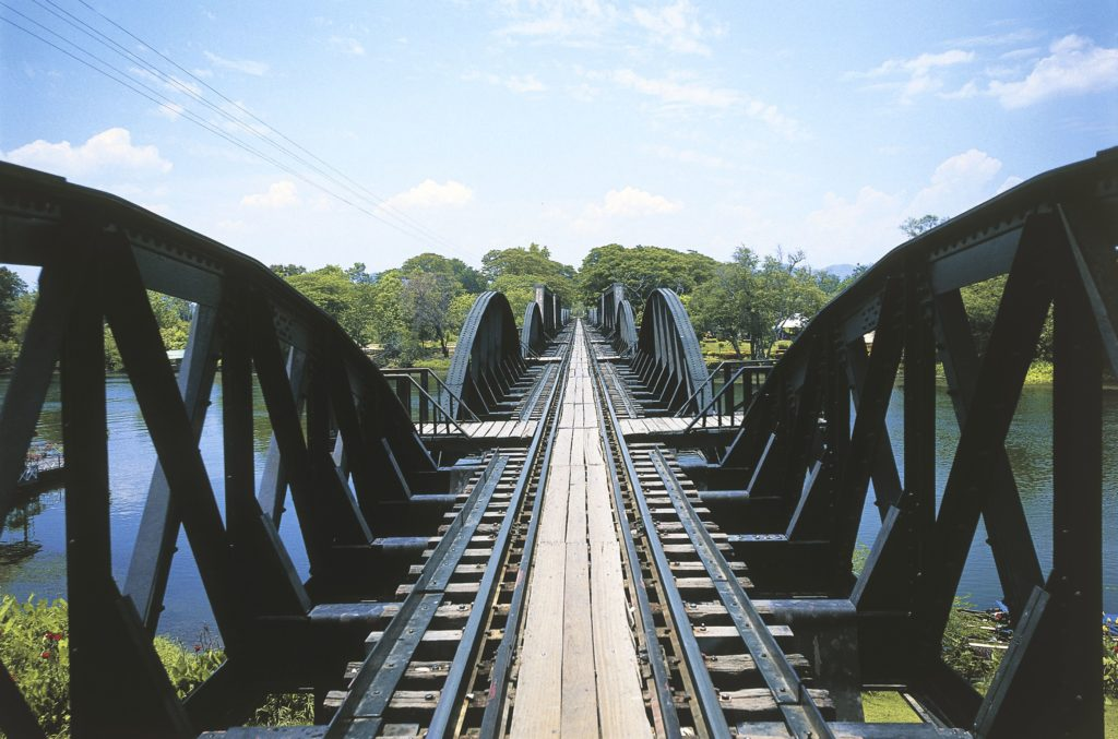 Bridge over the Kwai river, Kanchanaburi, Central Thailand, Thailand. (Getty Images/DEA / G. COZZI)