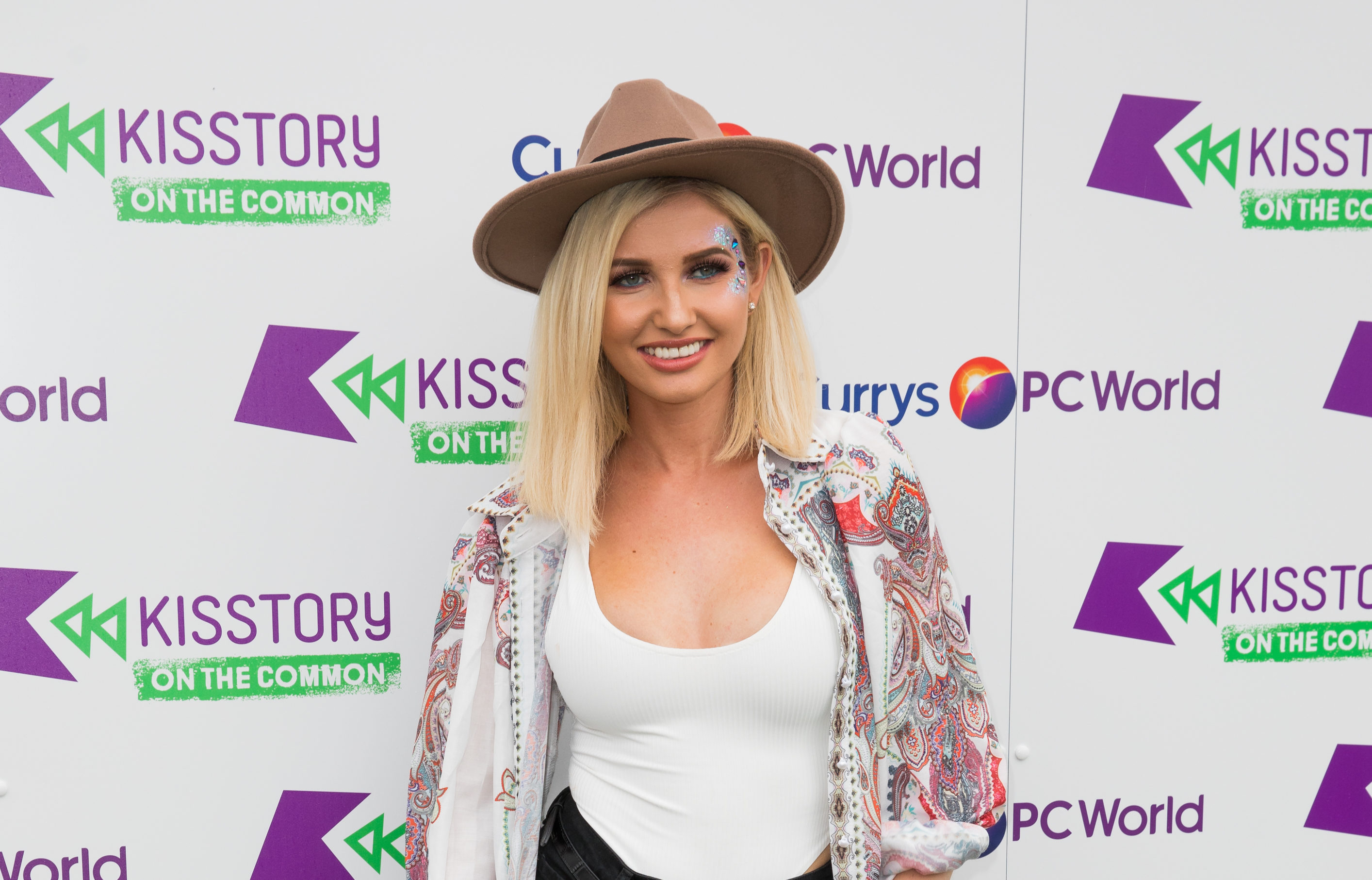 Love Island star Amy Hart. (Phil Lewis/SOPA Images/LightRocket via Getty Images)