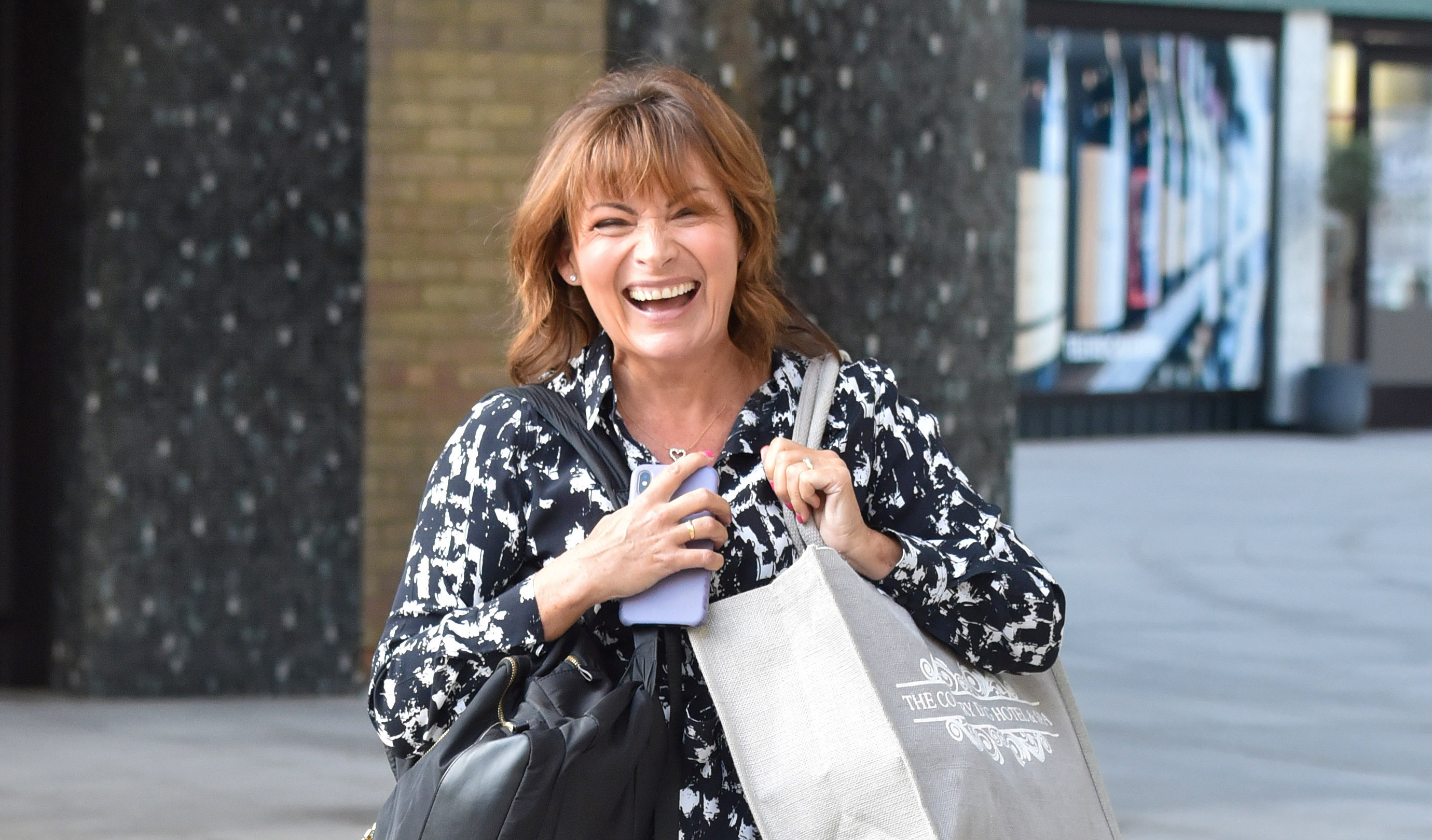 Lorraine Kelly in drag explaining the term 'power bottom' is everything
