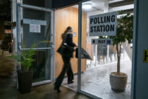 Voters head to polls in what is considered the most important election in a generation, in London, on Dec. 12, 2019.
