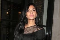 Nicole Scherzinger seen on a night out at Freedom in Soho on December 09, 2019. (Ricky Vigil M/GC Images)